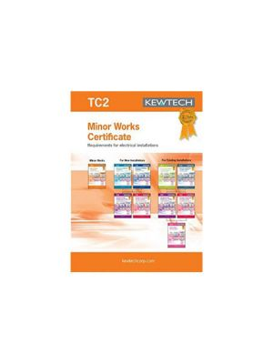 Kewtech TC2 Minor Works Certificate