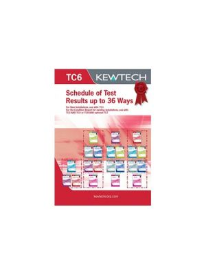 Kewtech TC6 Schedule of Test Results